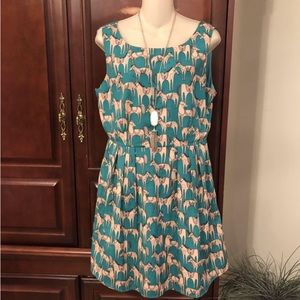 large Pink Owl boutique lined dress